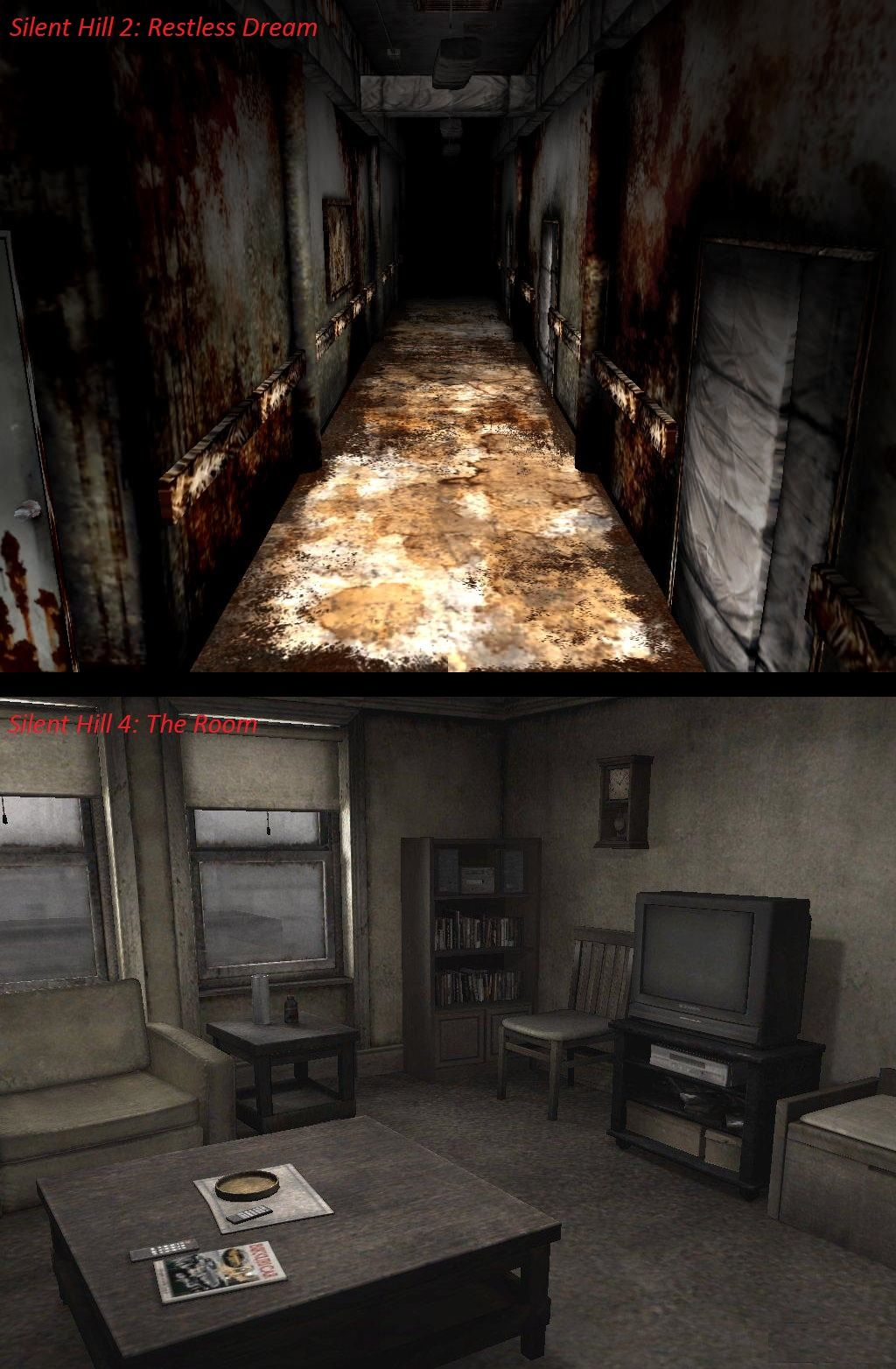 Silent Hill 2 Restless Dream Silent Hill 4 The Room Somehow Theres So Much Similarity Link Between These Two Its Ope Silent Hill 2 Silent Hill Silent