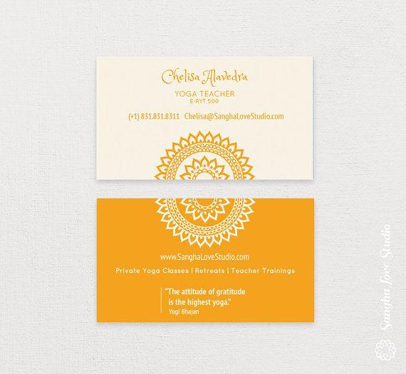 Manipura Yoga Business Card Or Wellness Yoga Business Card Yoga Teacher Business Cards Wellness Yoga Yoga Business