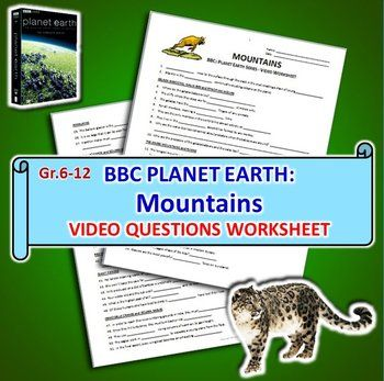 Planet Earth Mountains Video Questions Worksheet