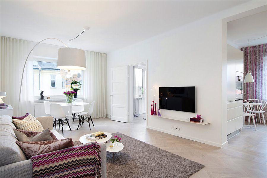 Minipiso en clave primavera cocina n rdica decoraci n for Decoracion nordica pisos pequenos