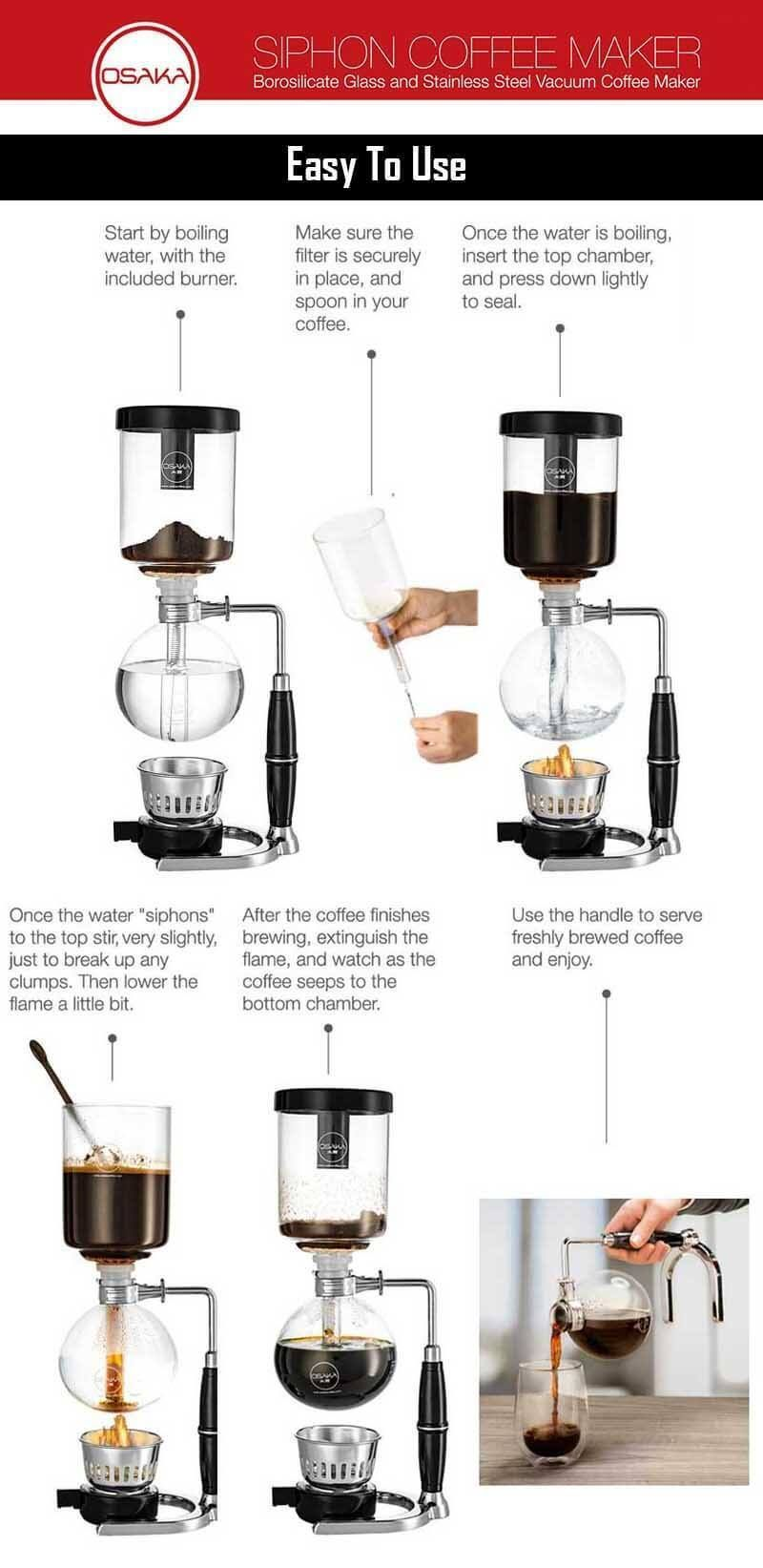 How To Use A Vacuum Coffee Maker How To Use Siphon