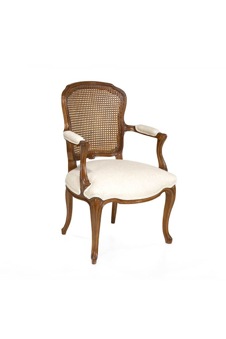 The Linz Dining Chair Is Shown In Cherry Wood With An Avignon  # Muebles Leblon Cordoba
