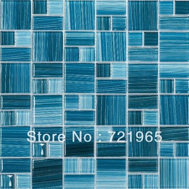 Blue Glass Mosaic Swimming Pool Tile CGMT112 Crystal Glass Kitchen Wall Tile  Backsplash FREE SHIPPING Bathroom