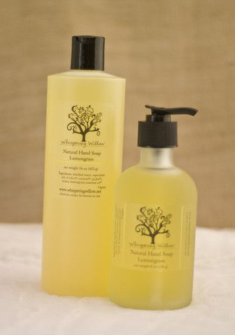 Liquid Hand Soap Pump, Lemongrass | Whispering Willow Soap Company