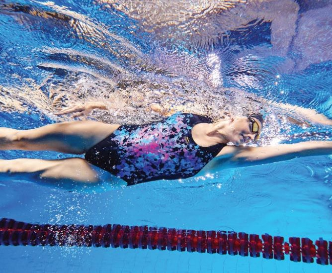 41af21eecdc7a Slazenger Becky Adlington Curved X back Swimsuit Ladies. Designed and  inspired by Olympic Medallist,. Read it