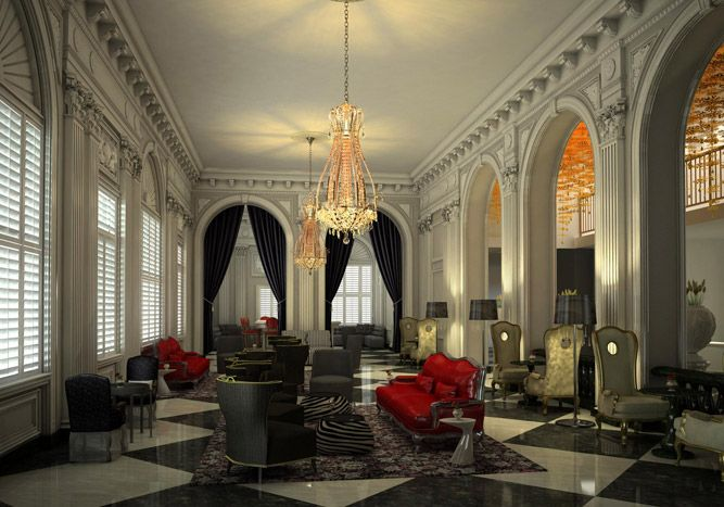 The Lobby Decor Combines Italian Renaissance Architecture And