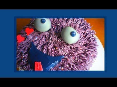 """Strubbeliges Monster Torte - wuschelige """"fell"""" Torte - von Kuchenfee - YouTube"""
