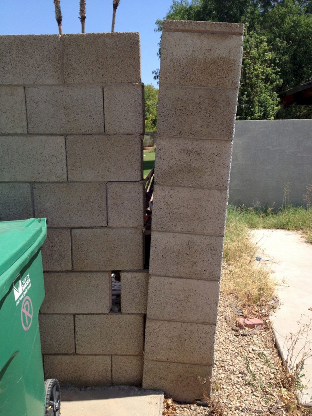 Cinder Block Wall Repair