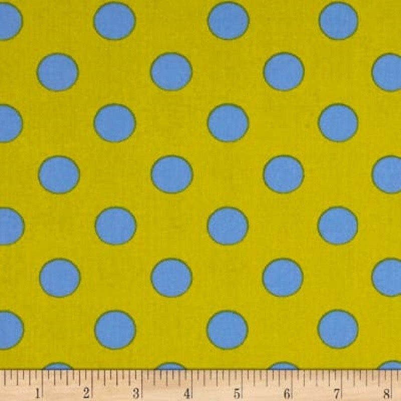 By 1//2 Yard ~ Free Spirit Tula Pink Fabric All Stars Dots ~ Pom Poms in Fern