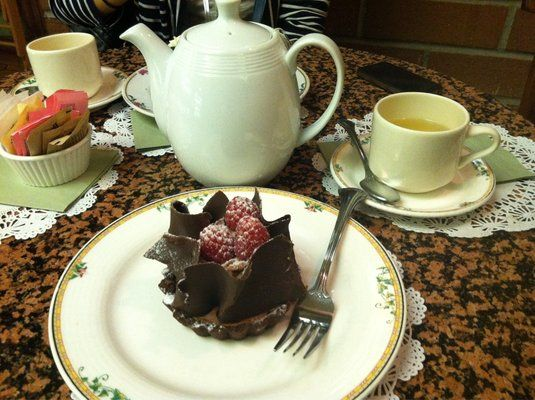 Chocolate mousse & a pot of chamomile tea | Yelp