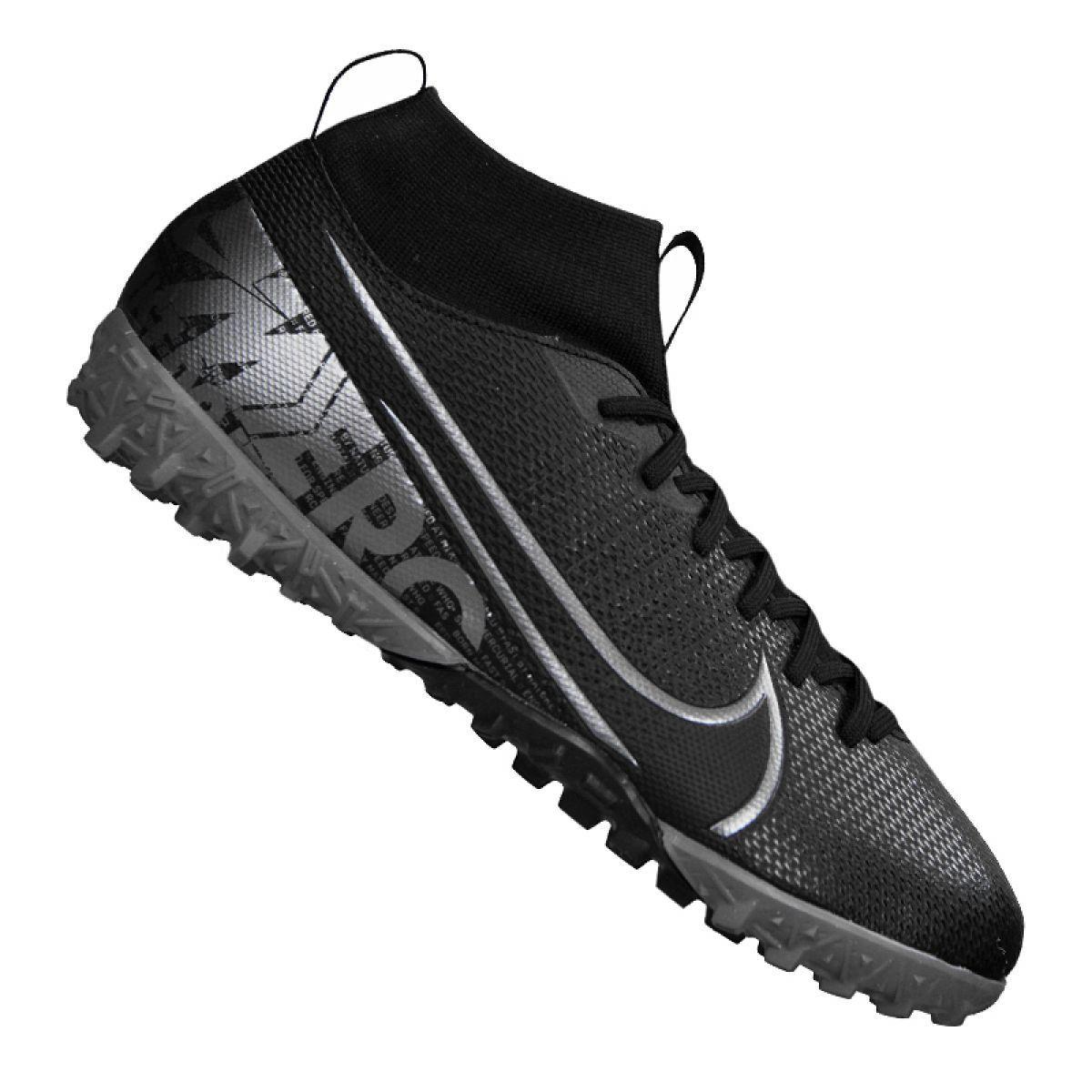 Buty Pilkarskie Nike Superfly 7 Academy Tf Jr At8143 001 Czarne Czarne Junior Boots Football Shoes Nike Shoes
