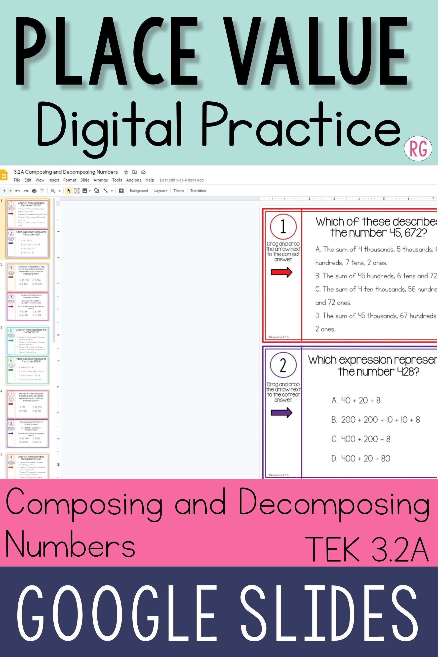 Composing And Decomposing Numbers Distance Learning