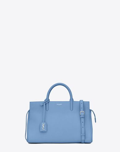 c71aad876af1 saint laurent small cabas rive gauche bag in light blue grained leather
