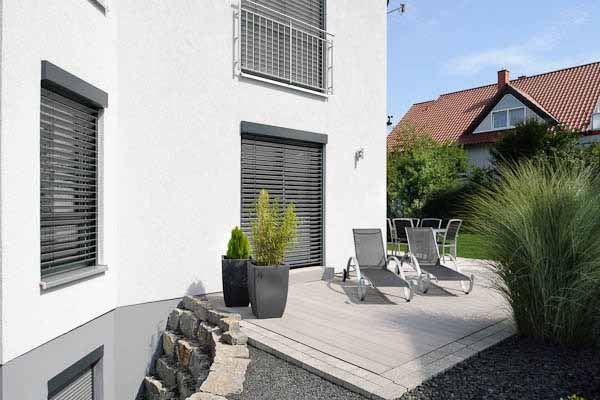 Haus bauen modern pultdach  Einfamilienhaus in Ebenhausen mit Pultdach Terrasse | Albert Haus ...