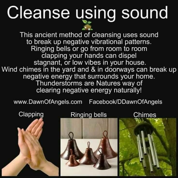 Cleanse using soundespecially helpful for those who