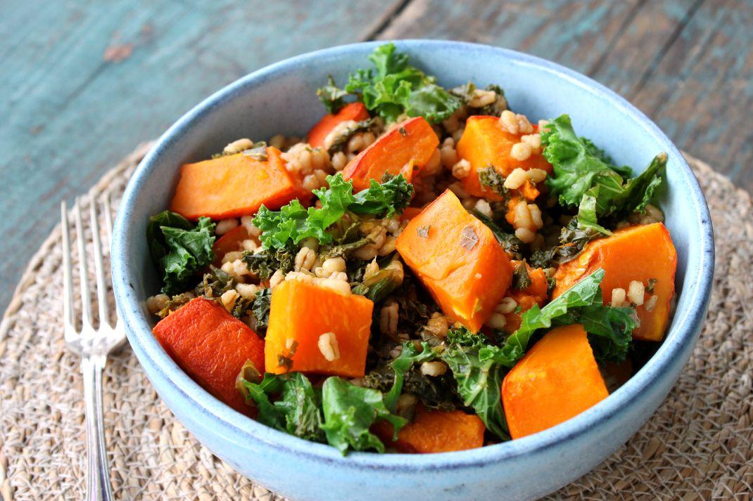 Pumpkin and kale salad.