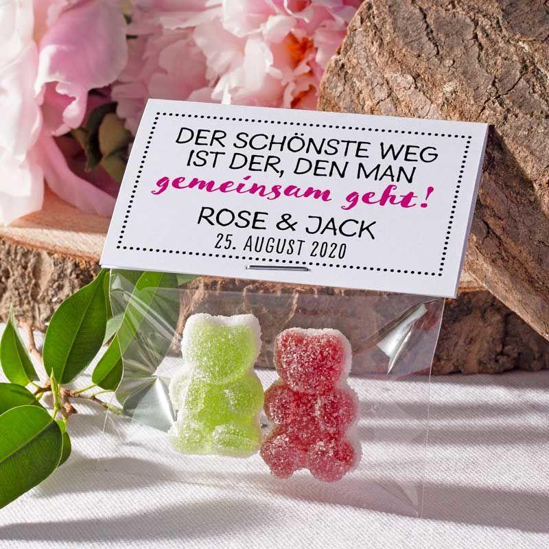 Gastgeschenk Geschenktüte transparent mit Etikett Gemeinsam bestellen