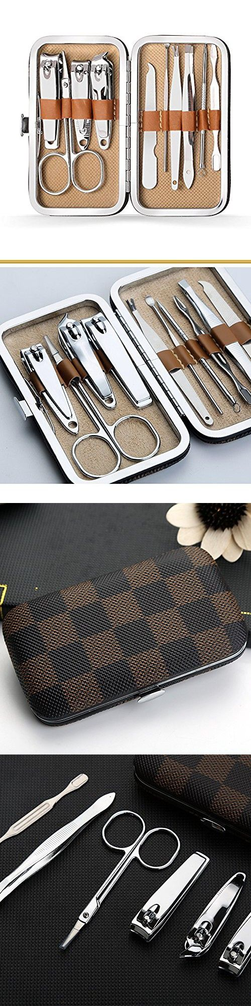 Nail Clipper Set 10 in 1 Nail file Swing Out Nail Cleaner / File ...