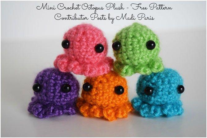 Mini Crochet Octopus Plush Free Pattern Crochet Octopus Octopus Crochet Pattern Crochet Giraffe Pattern