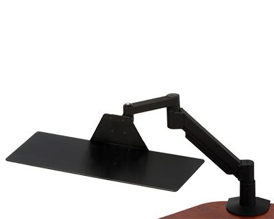 Lx Wall Mount System For Medium Cpu Stands, Holders & Car Mounts Polished Aluminum/black