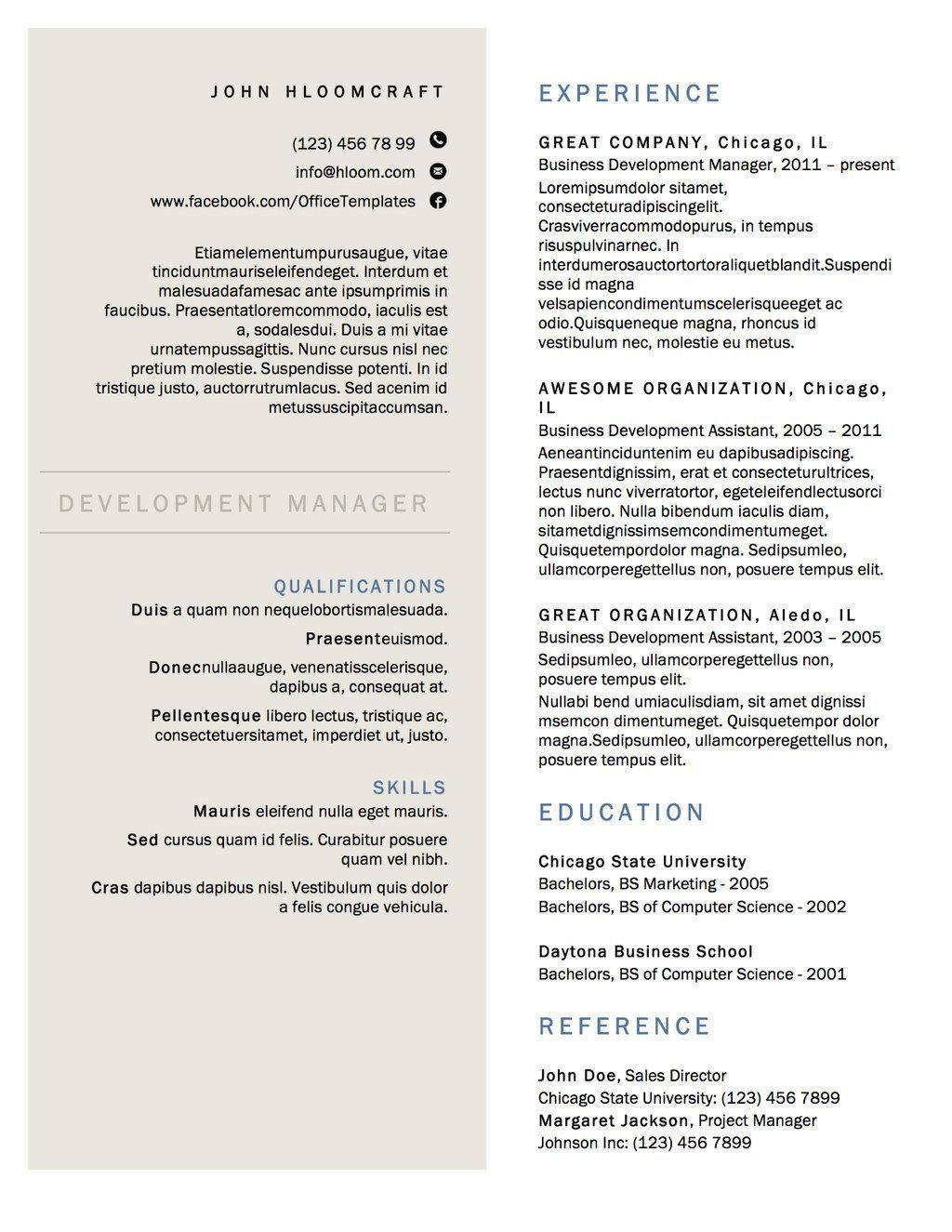Pin by My Career Plans© on Build a Resume template in 2020