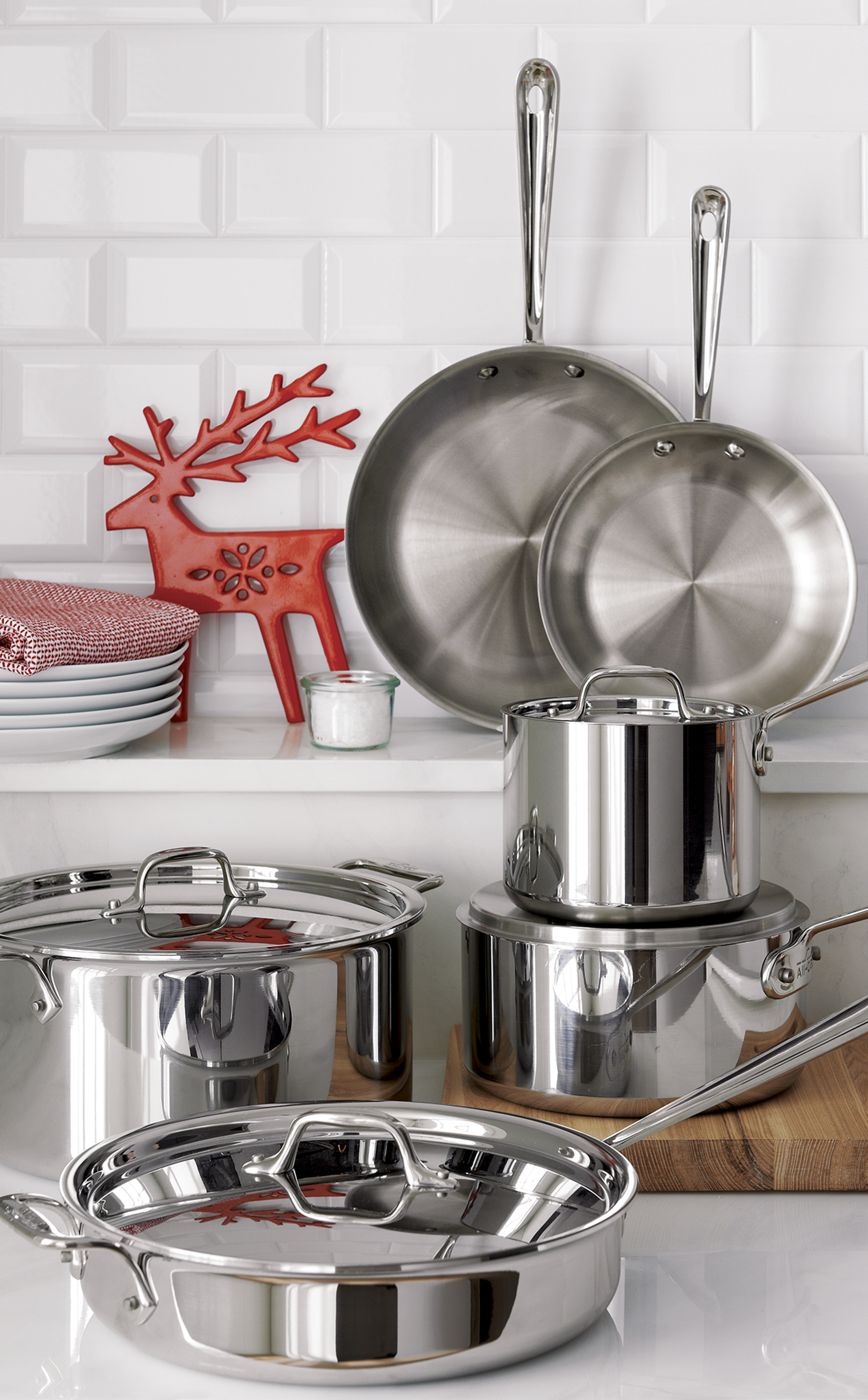 All Clad D3 Stainless 10 Piece Cookware