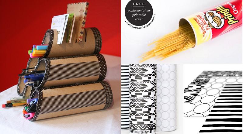 15 fa ons de recycler les boites de chips pringles recup pinterest. Black Bedroom Furniture Sets. Home Design Ideas