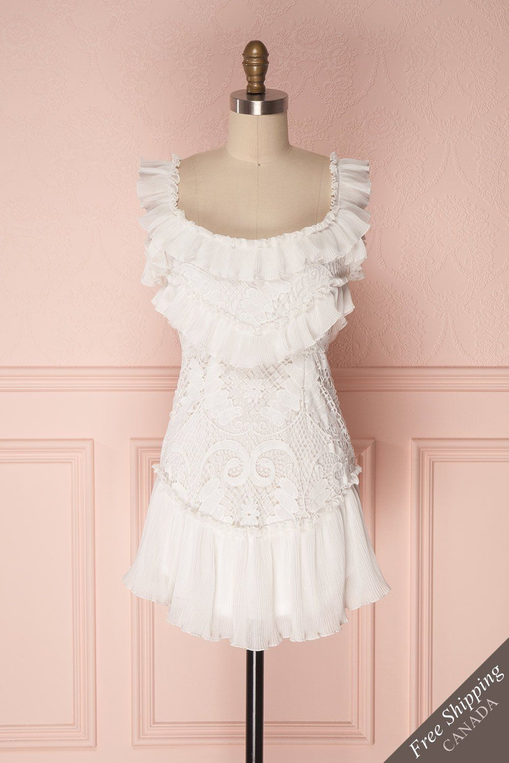 Totam in shoes pinterest dresses ruffle dress and white lace
