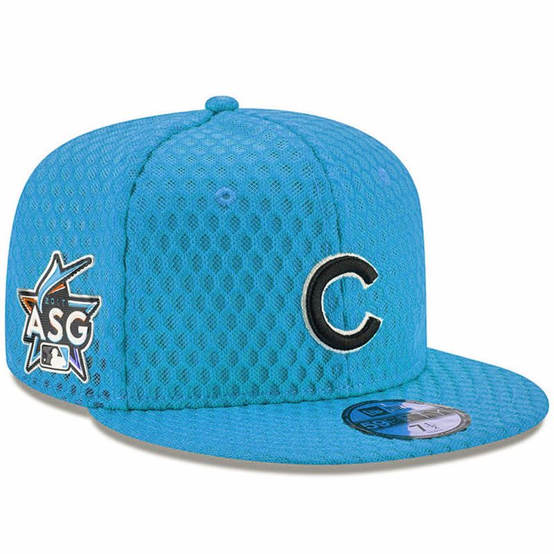 new styles da15c c1408 Chicago Cubs New Era 2017 Home Run Derby Side Patch 59FIFTY Fitted Hat -  Blue