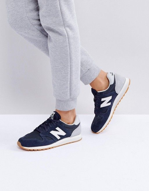 New Balance | New Balance 520 Suede Trainers In Blue | Arch ...