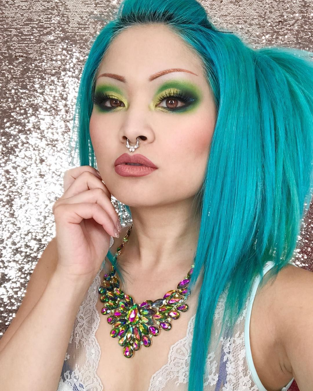 shrinkle wears #sugarpill Money Maker, Midori, Acidberry