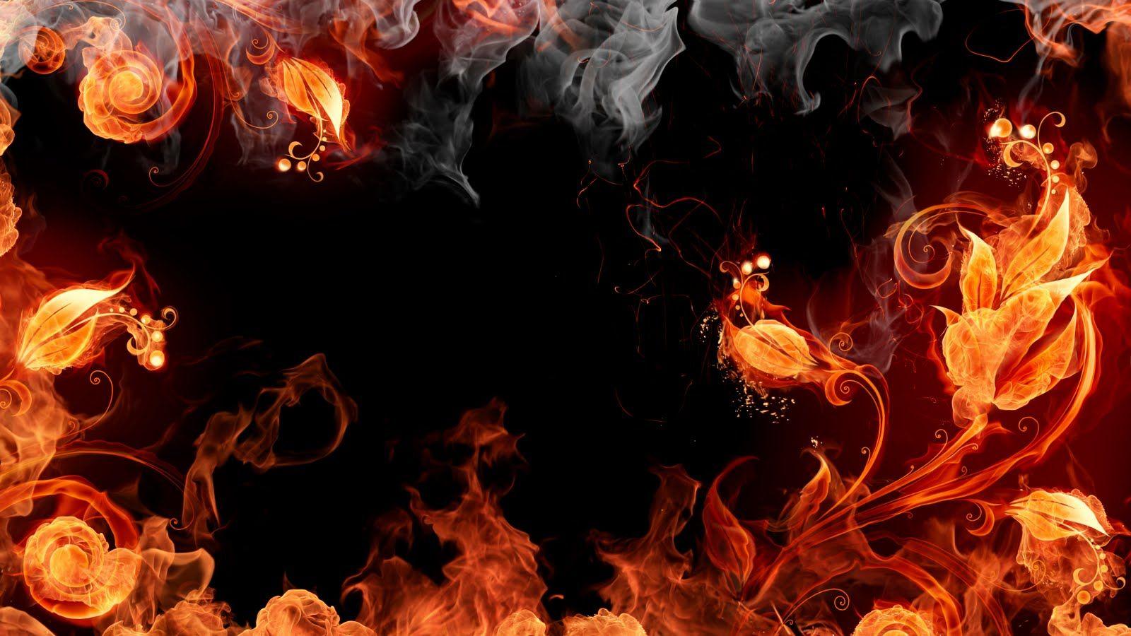 Fire Element Smoke wallpaper, Fire flower, Fire art