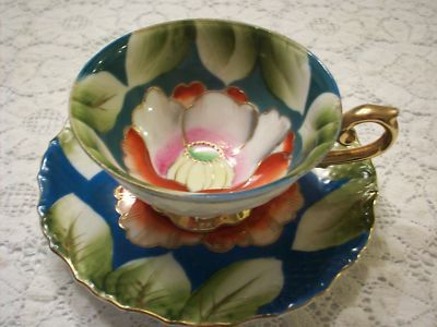 TEA CUP & SAUCER OCCUPIED JAPAN TEACUP HAND PAINTED