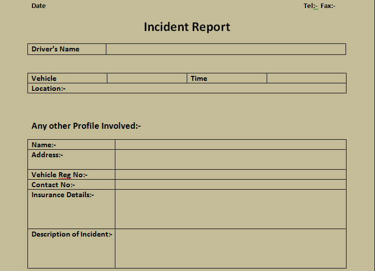 Get Incident Report Form Excel Template – Incident Report Templates