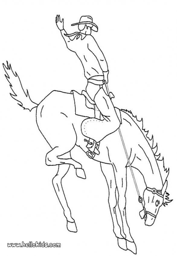 Bucking Bronco Coloring Page Horse Coloring Pages Horse