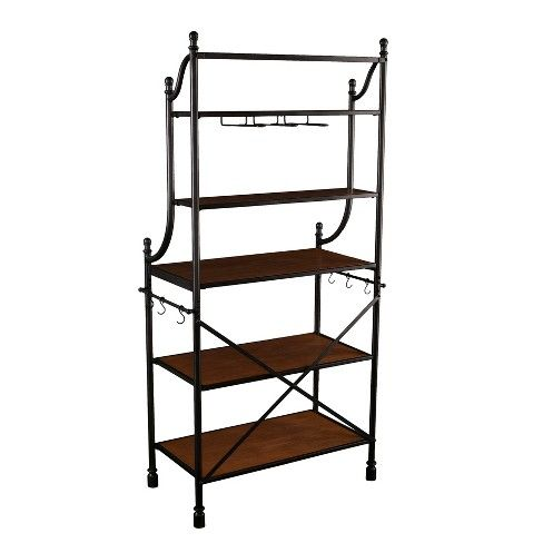 Cypher Bakers Rack Brown Aiden Lane Bakers Rack Dining