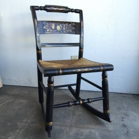 Vintage Rocking Chair Hitchcock Chair Small Rocking Chair Etsy Vintage Rocking Chair Small Rocking Chairs Old Rocking Chairs