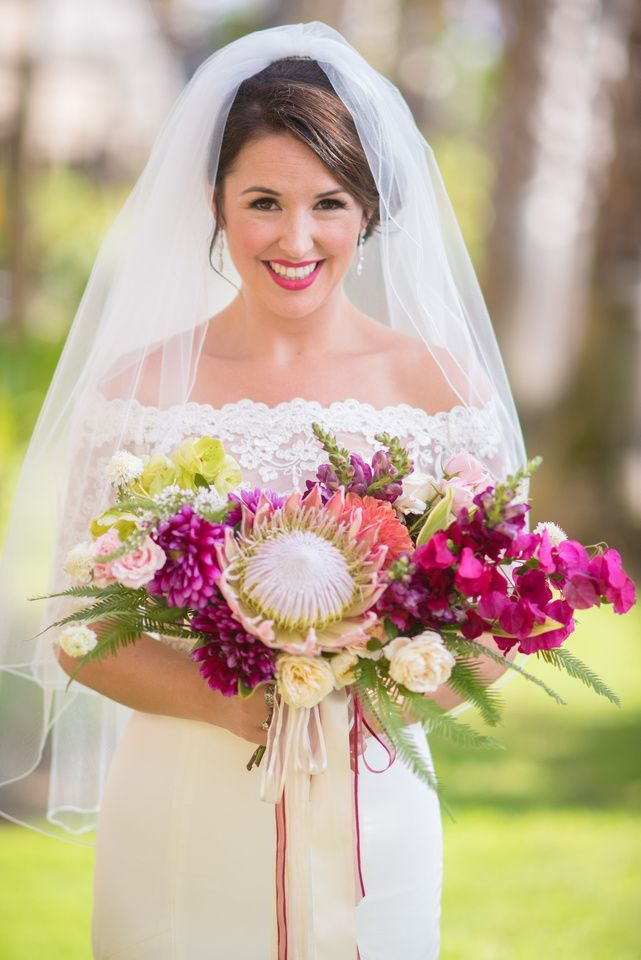 Swoon-worthy oversized tropical bouquet by Bloom Babes of San Diego. Love!