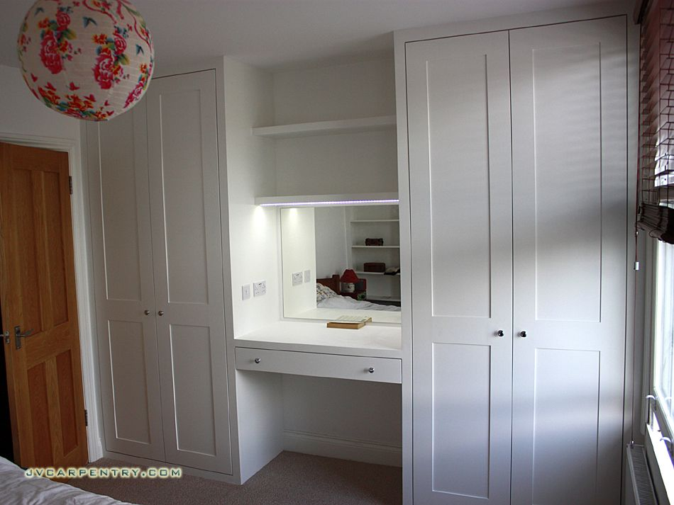 Cabin Bedroom Fitted Furniture: Two Shaker Wardrobes With Dressing Table …