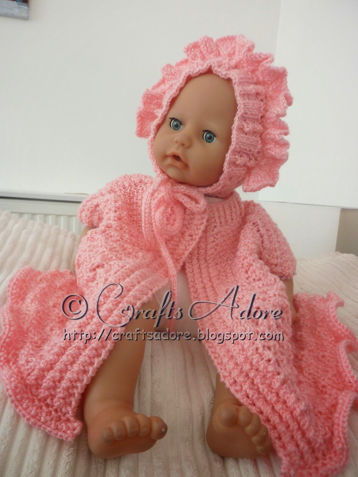 Knitted Baby Girl Layette Free Knitting Pattern | Baba klere ...