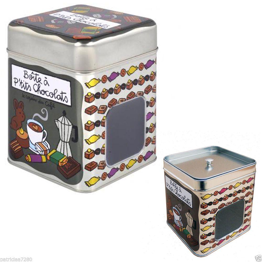 Boite hermetique a petits chocolats en metal fenetre dlp for Boite hermetique