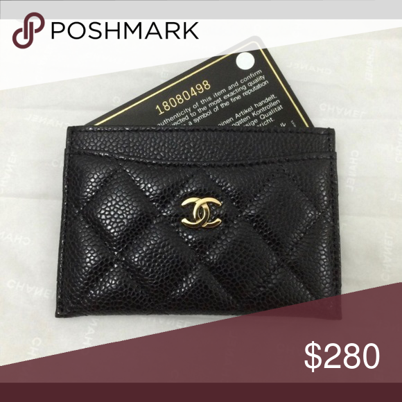 5721af64cb98 CHANEL Caviar Quilted Card Holder Black CHANEL Caviar Quilted Card Holder  Black This simple and very
