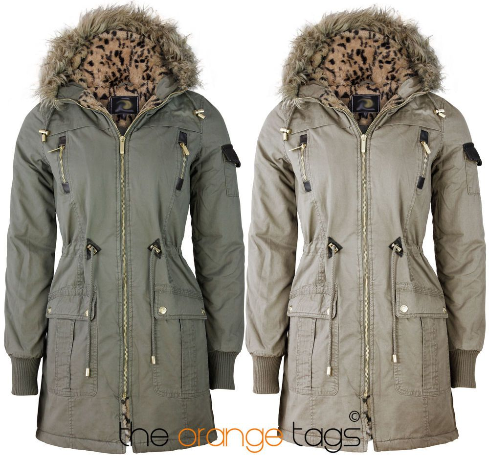 Details about NEW LADIES BRAVE SOUL WINTER PARKA COAT JACKET FUR ...