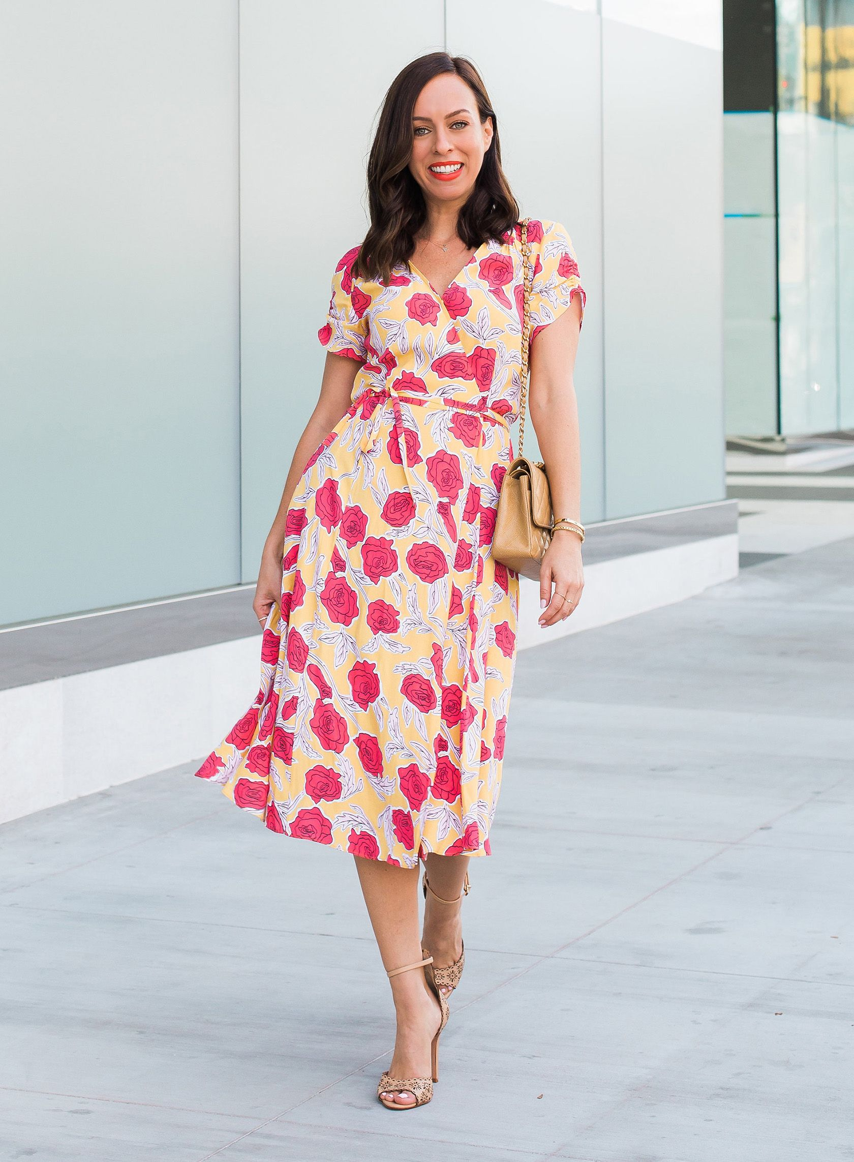 6e3f78dbaa16 Sydne Style reviews the best wrap dresses for summer office outfit ideas   florals  dresses  wrapdresses  summeroutfits