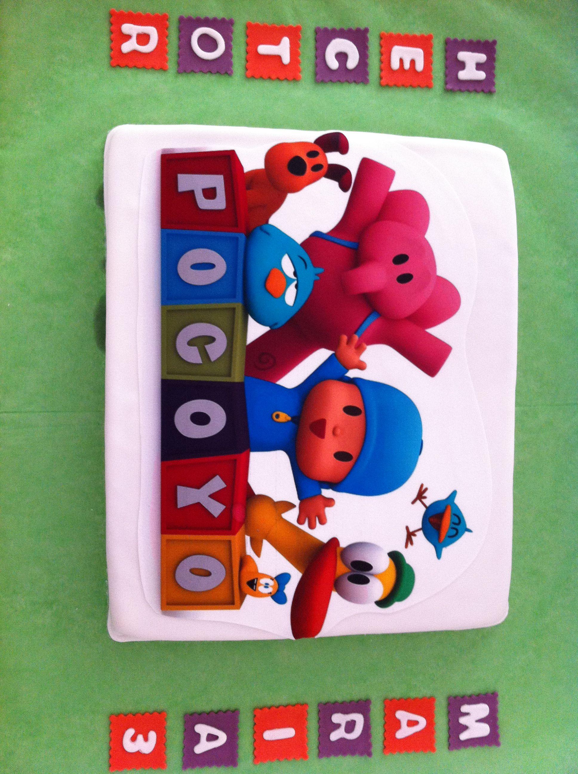 Tarta Pocoyo impresa en papel comestible elaborada por TheCakeProject en Madrid