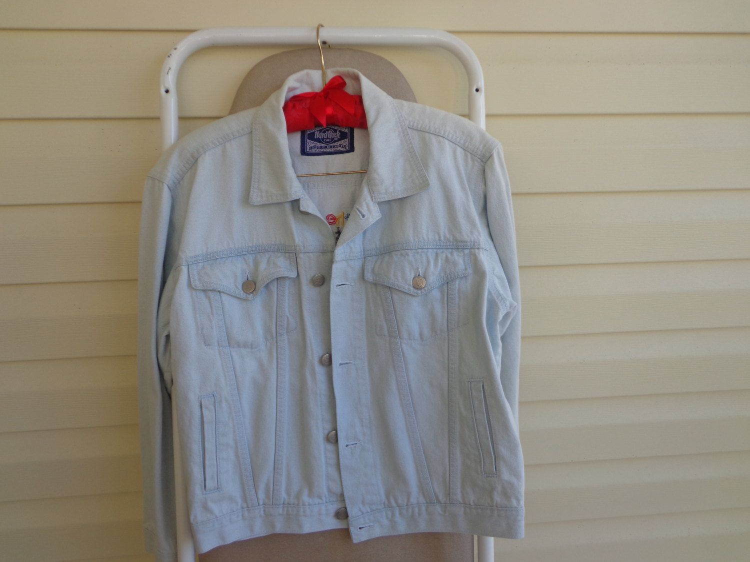 Save The Planet Vintage Ladies Stone Washed Denim Jean Jacket by SweetPeaVintageTwo on Etsy