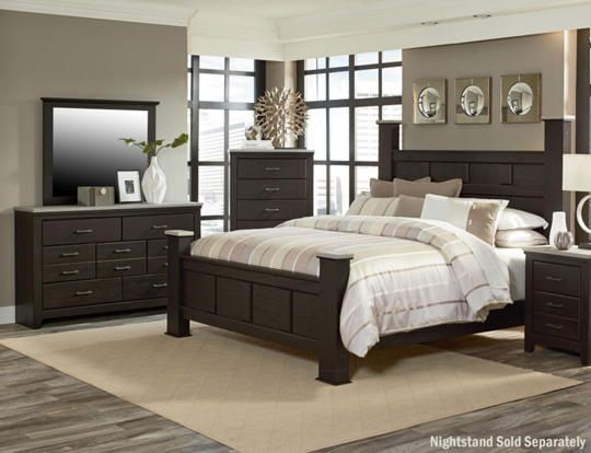 6pc King Bedroom Set - Art Van Furniture | Dark wood bedroom ...