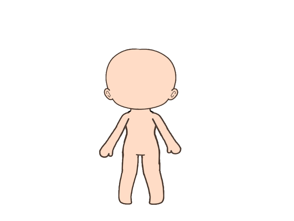 Front Facing Gacha Base Free To Use In 2020 Drawings Face Art