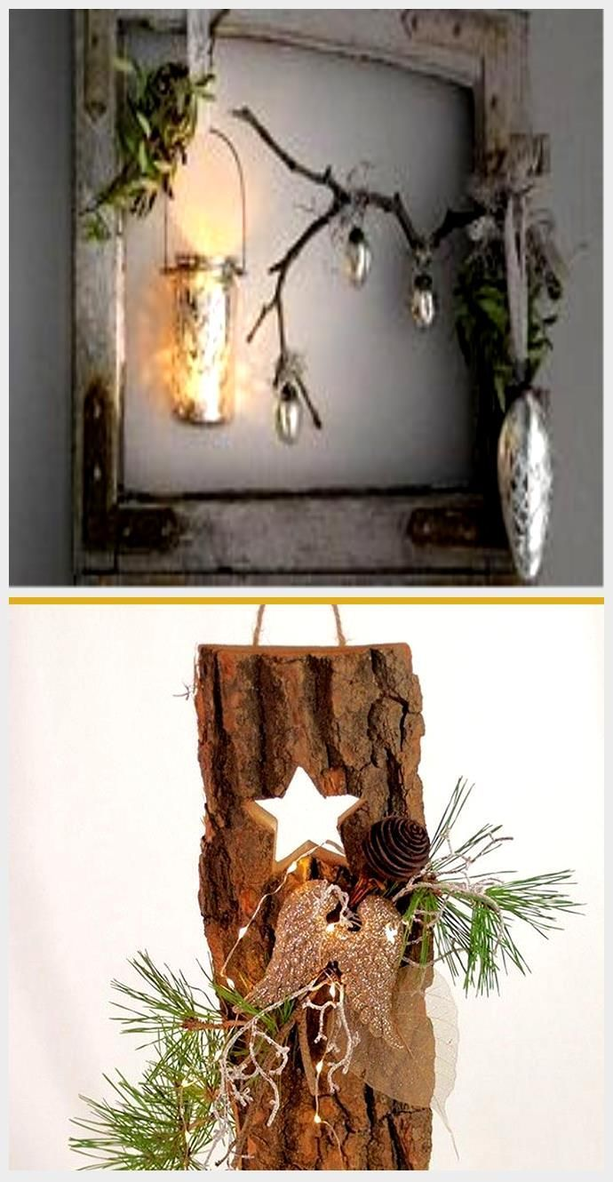 Christmas decorations with an old wooden door for rustic FRE …