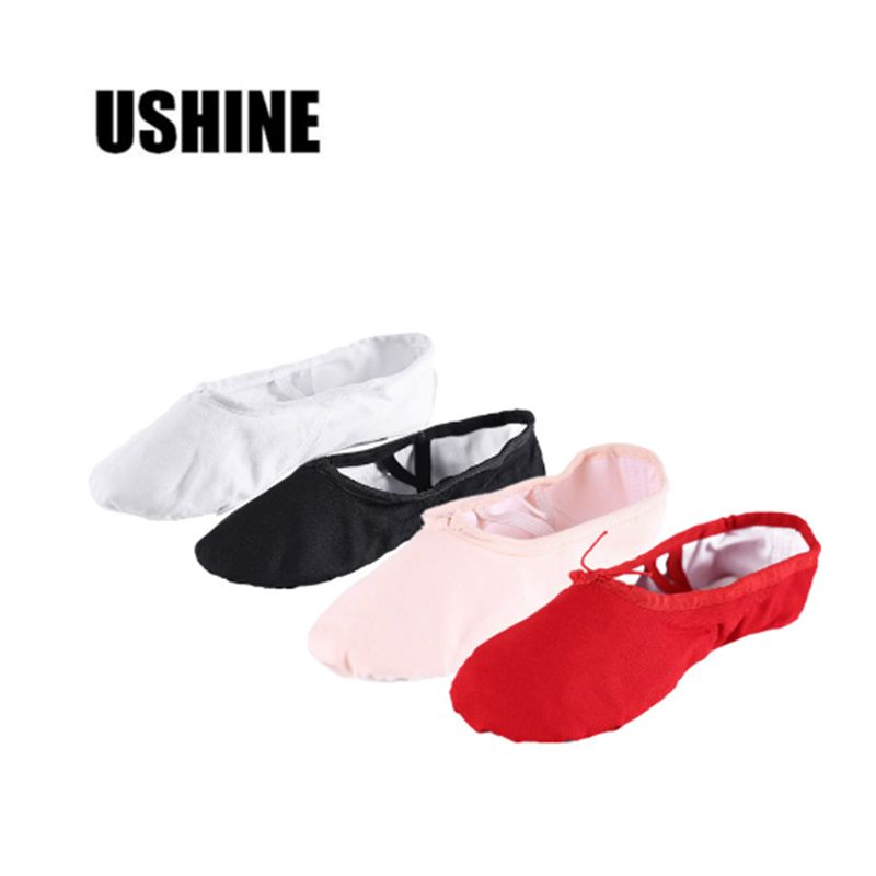 Adult Child Girl Gymnastics Ballet Dance Shoes Canvas Slippers Pointe Dance Hot